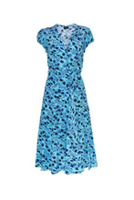 Load image into Gallery viewer, Silk Bugesha Dress - Floral Bluebell