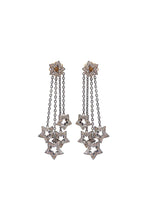 Load image into Gallery viewer, Diamond Star Chandelier Earrings