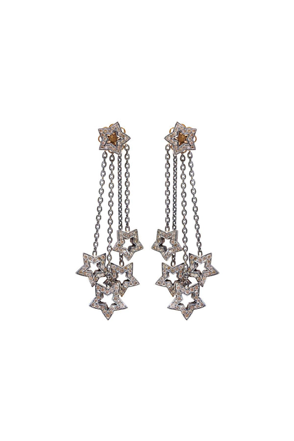 Diamond Star Chandelier Earrings