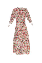 Load image into Gallery viewer, Silk Bugesha Midi Dress - Cherry