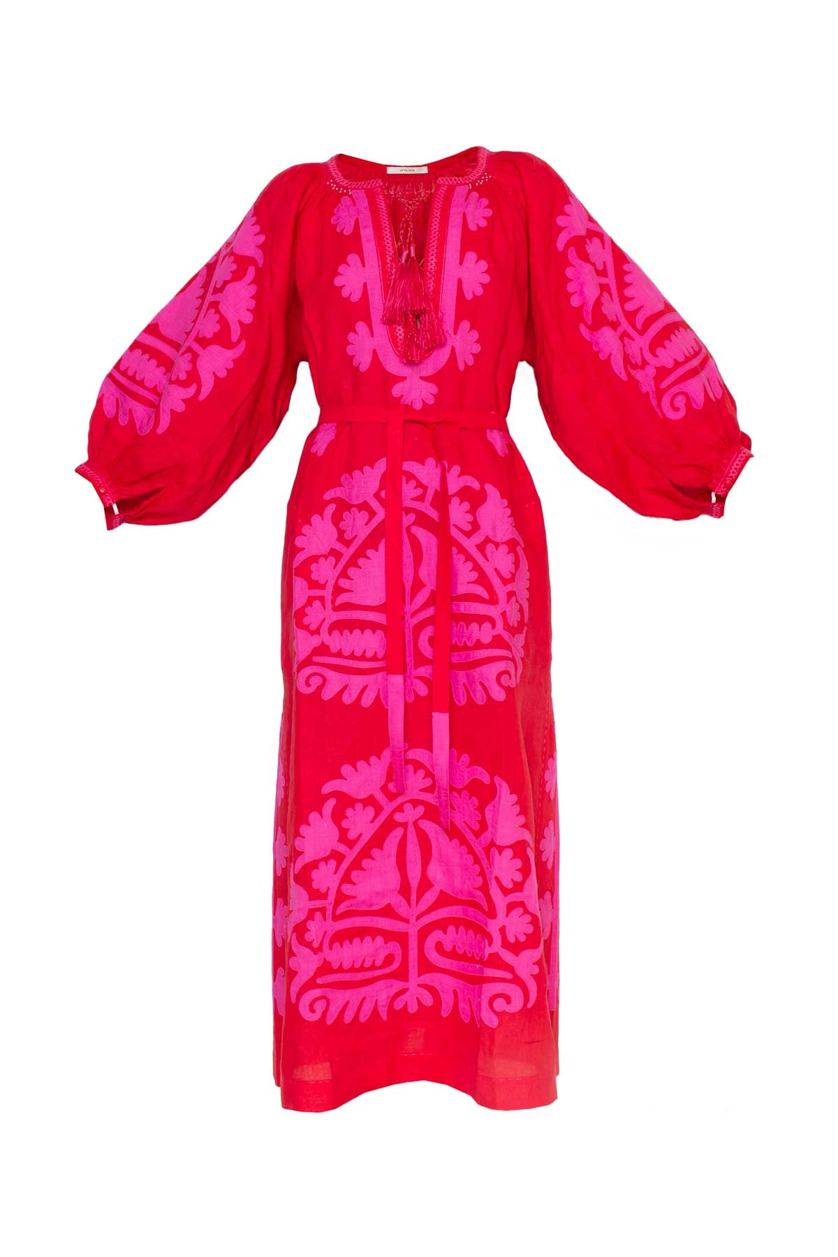 Shalimar Dress - Red & Fuchsia