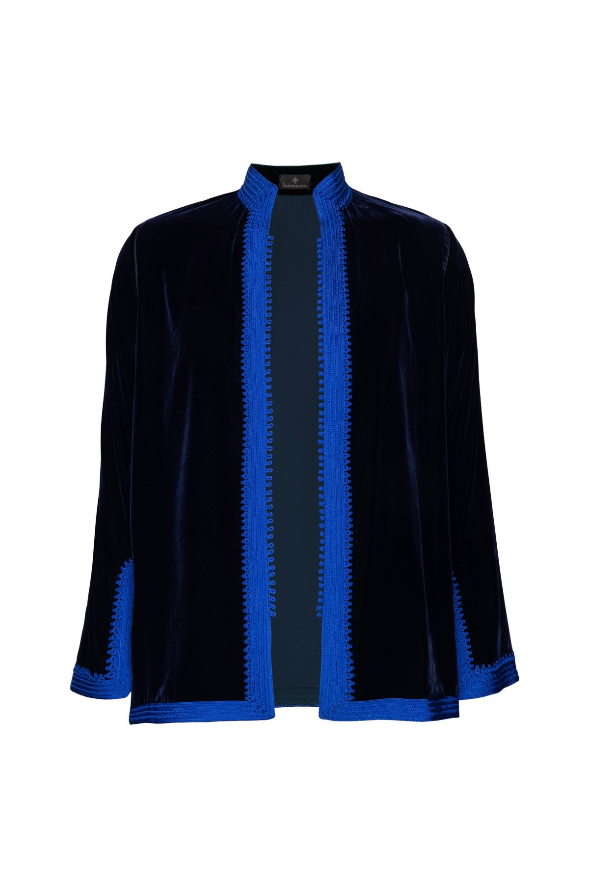 Women's Moroccan Velvet Jacket - Dark Blue