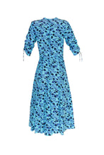 Load image into Gallery viewer, Midi Sleeve Bugesha Dress -  Floral Bluebell