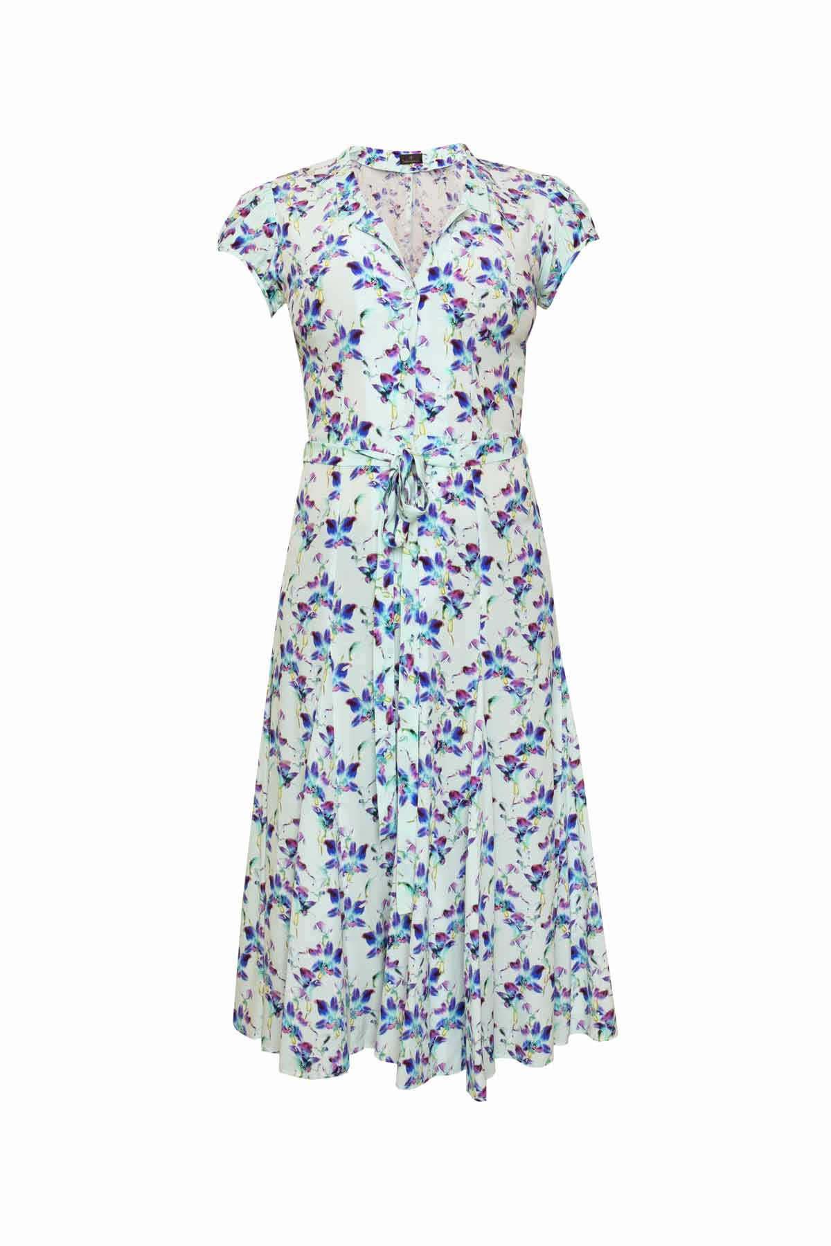 Silk Bugesha Dress - Blue Orchid