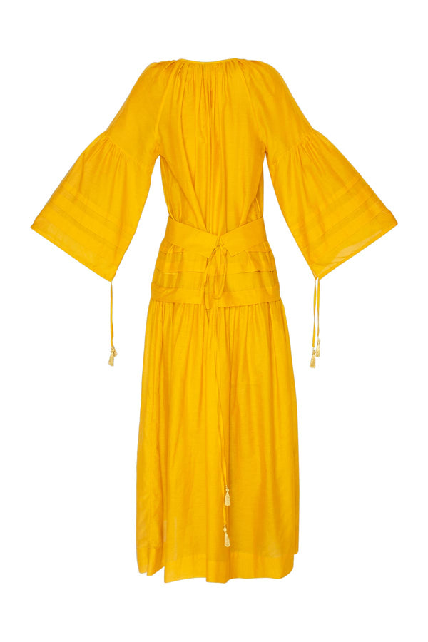 Mykonos Long Dress - Yellow