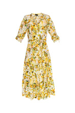 Load image into Gallery viewer, Midi Sleeve Bugesha Dress - Yellow Orchid