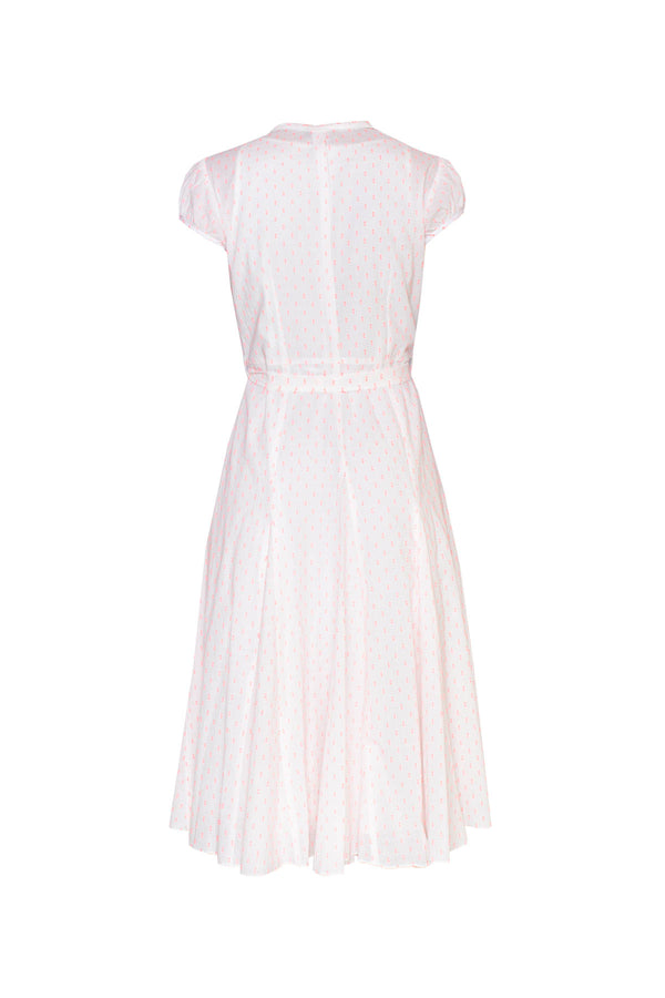 Cotton Bugesha Dress - Pink Polka