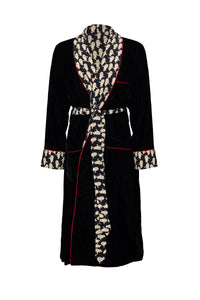 Velvet Panther Dressing Gown