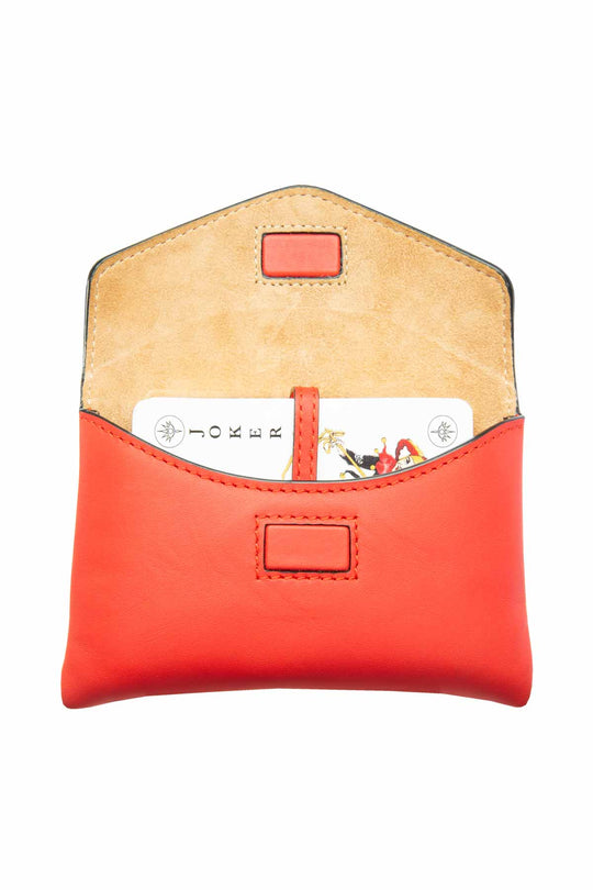 Leather Card Set - Red