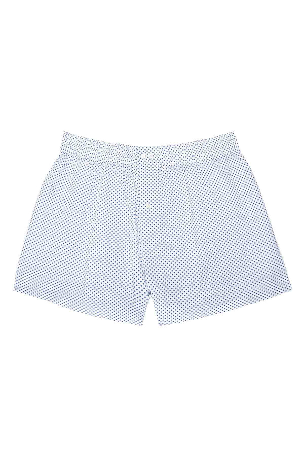 Men's Boxers - Small Blue Polka Dots
