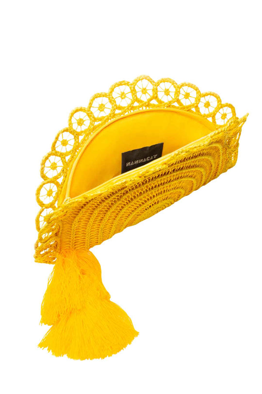Lua Fan Clutch Bag - Yellow