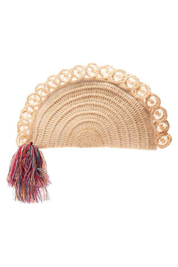 Lua Fan Clutch Bag - Cream