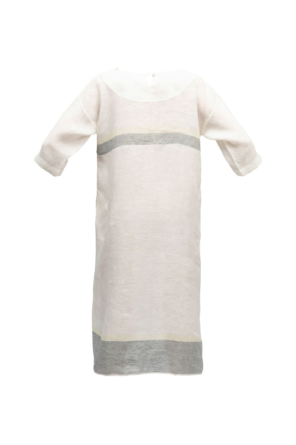 Thyme Linen Dress - White