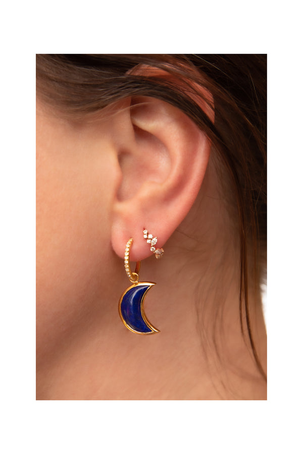 Lapis Lazuli & Gold Tiger Eye Earrings