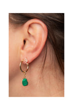 Load image into Gallery viewer, Malachite Hoop Earrings