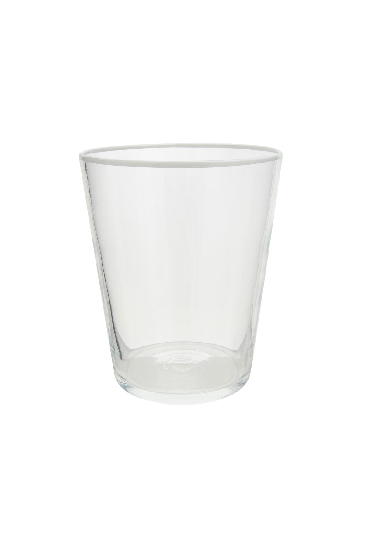 Vaso Glass - Crystal With White Rim