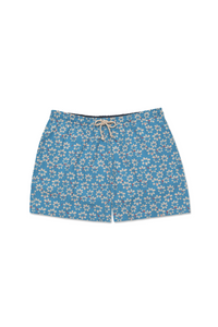 Men's Swimming Trunks - Blue Hibiscus