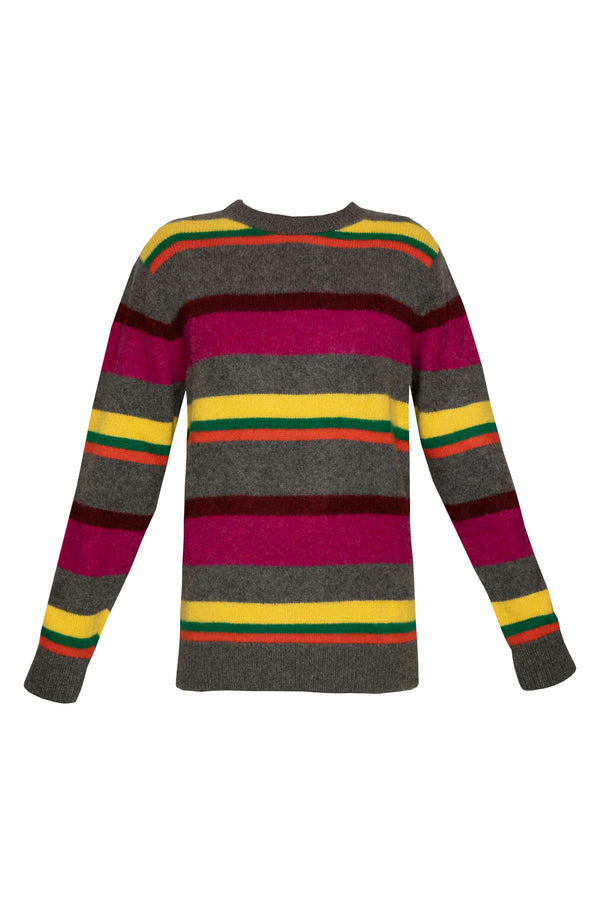 Boardwalk Stripe Crew Neck Jumper