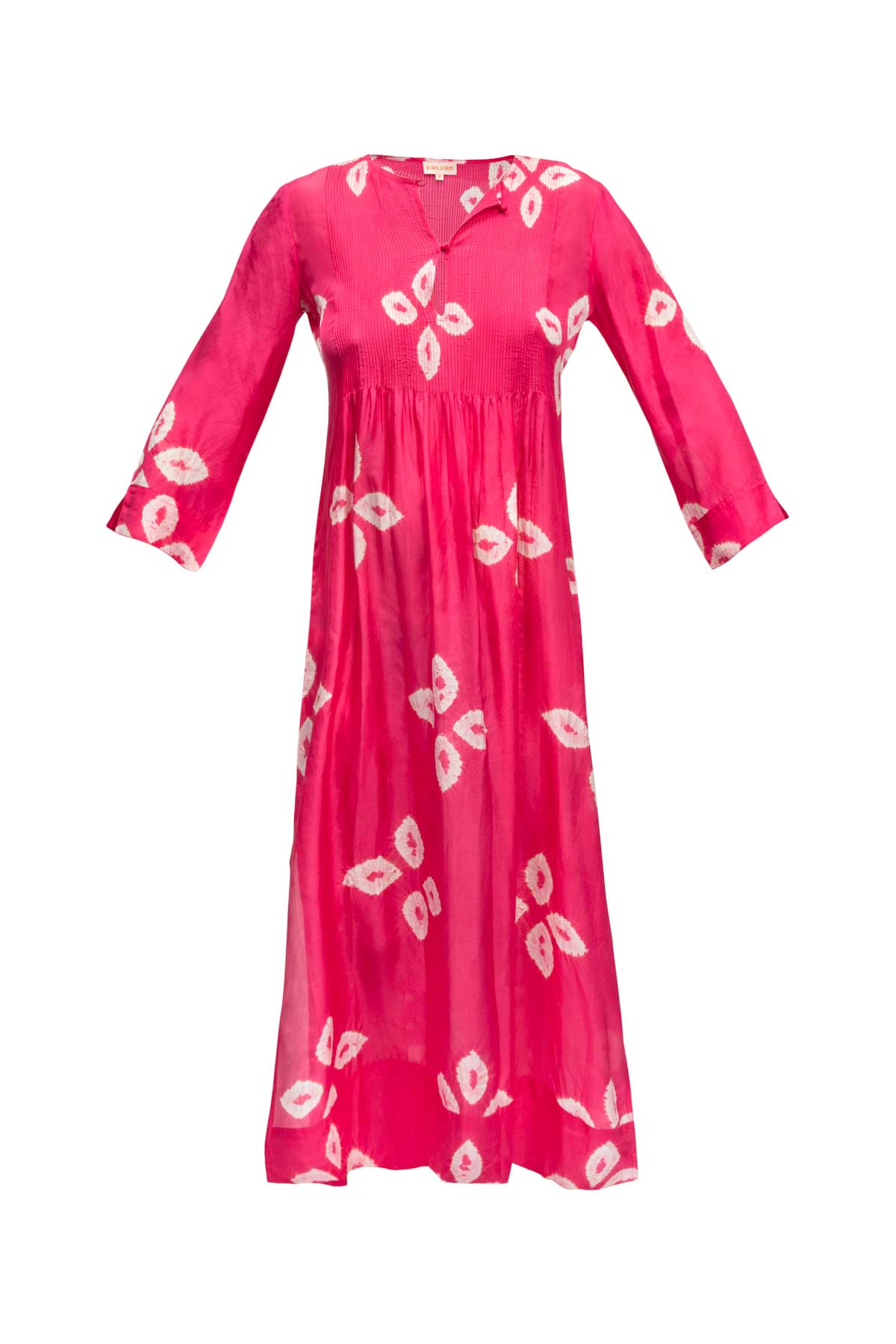 Heidi Silk Dress - Floral Fuchsia