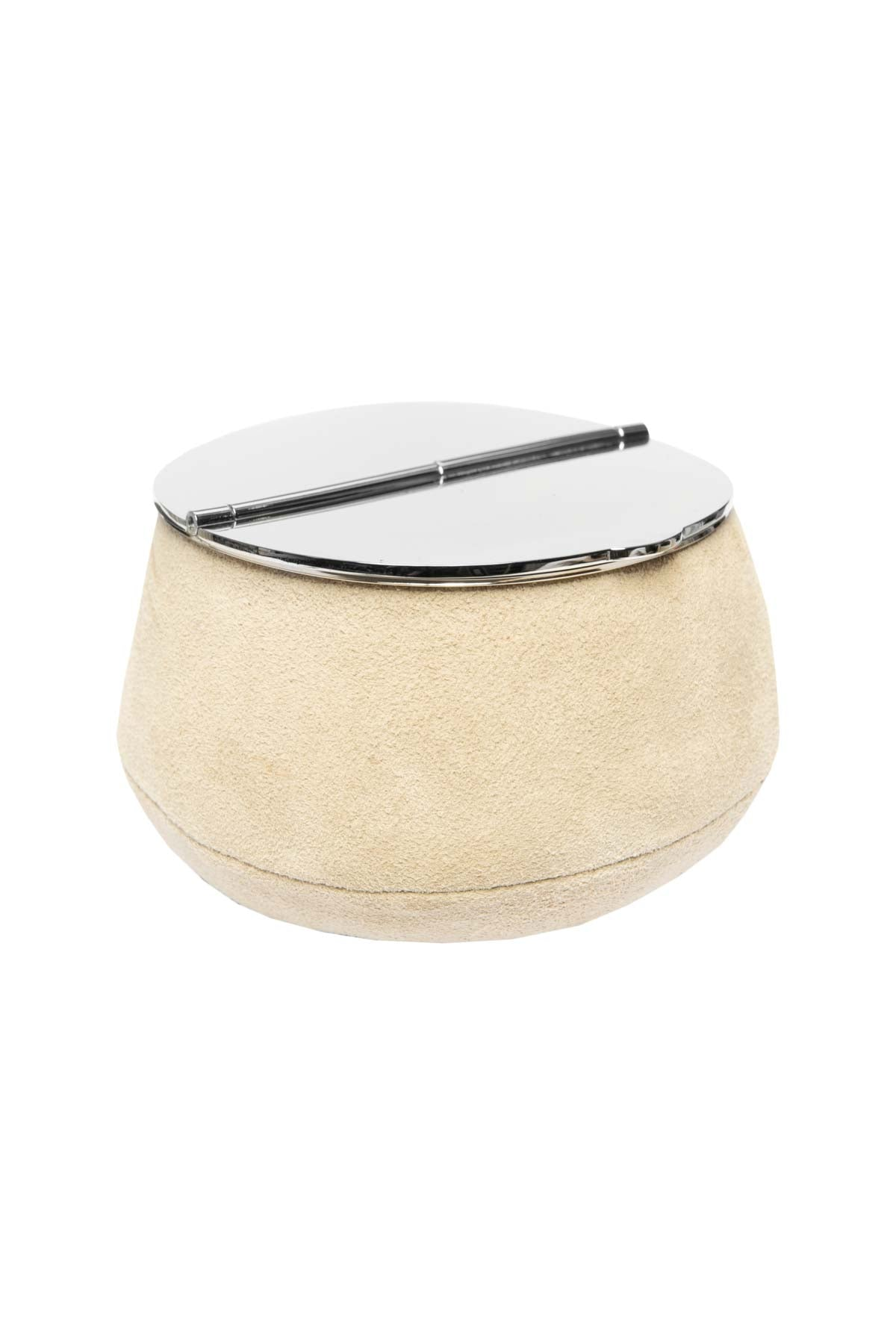 Suede Ashtray - Beige