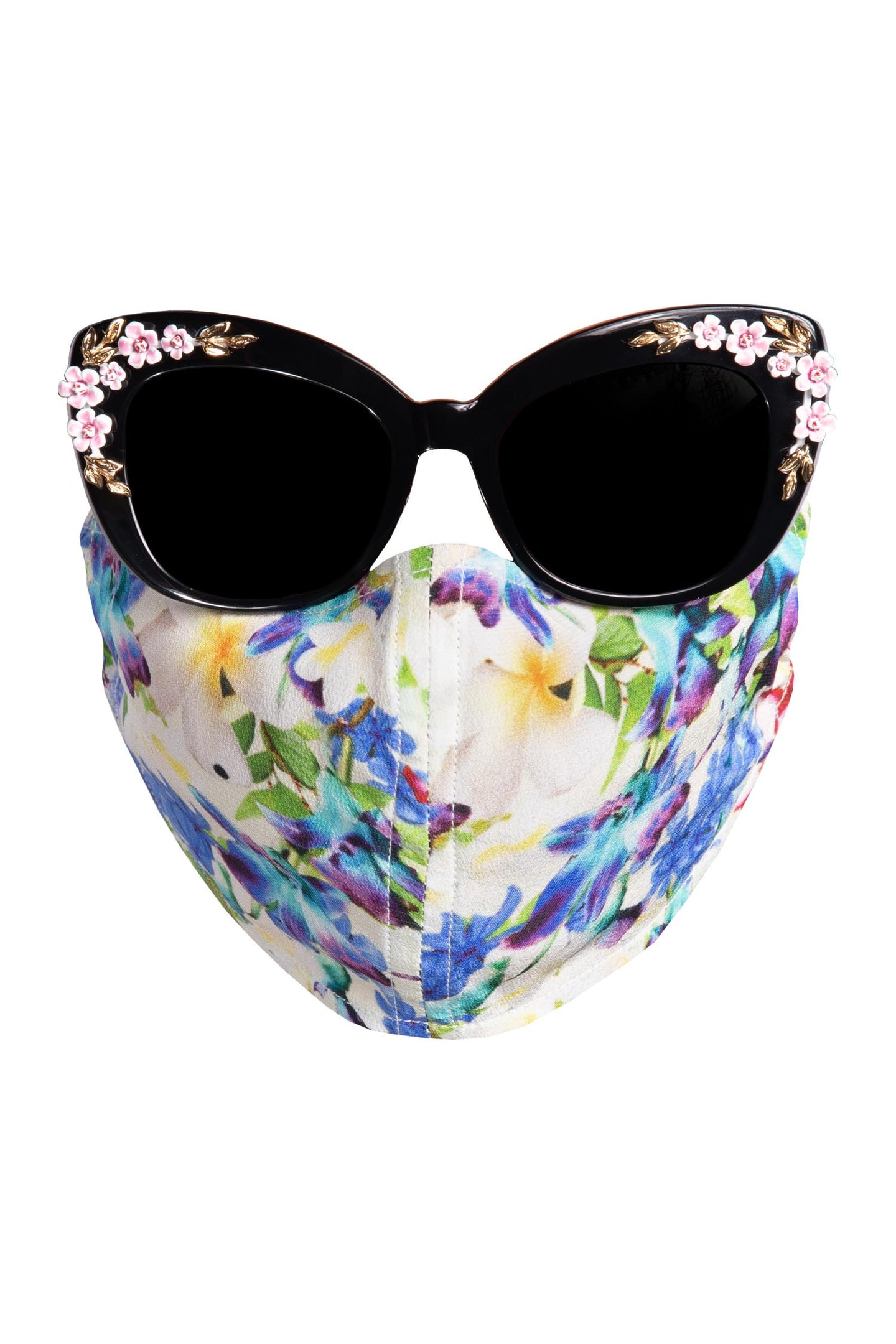 Silk Face Mask - Multi Fleurs