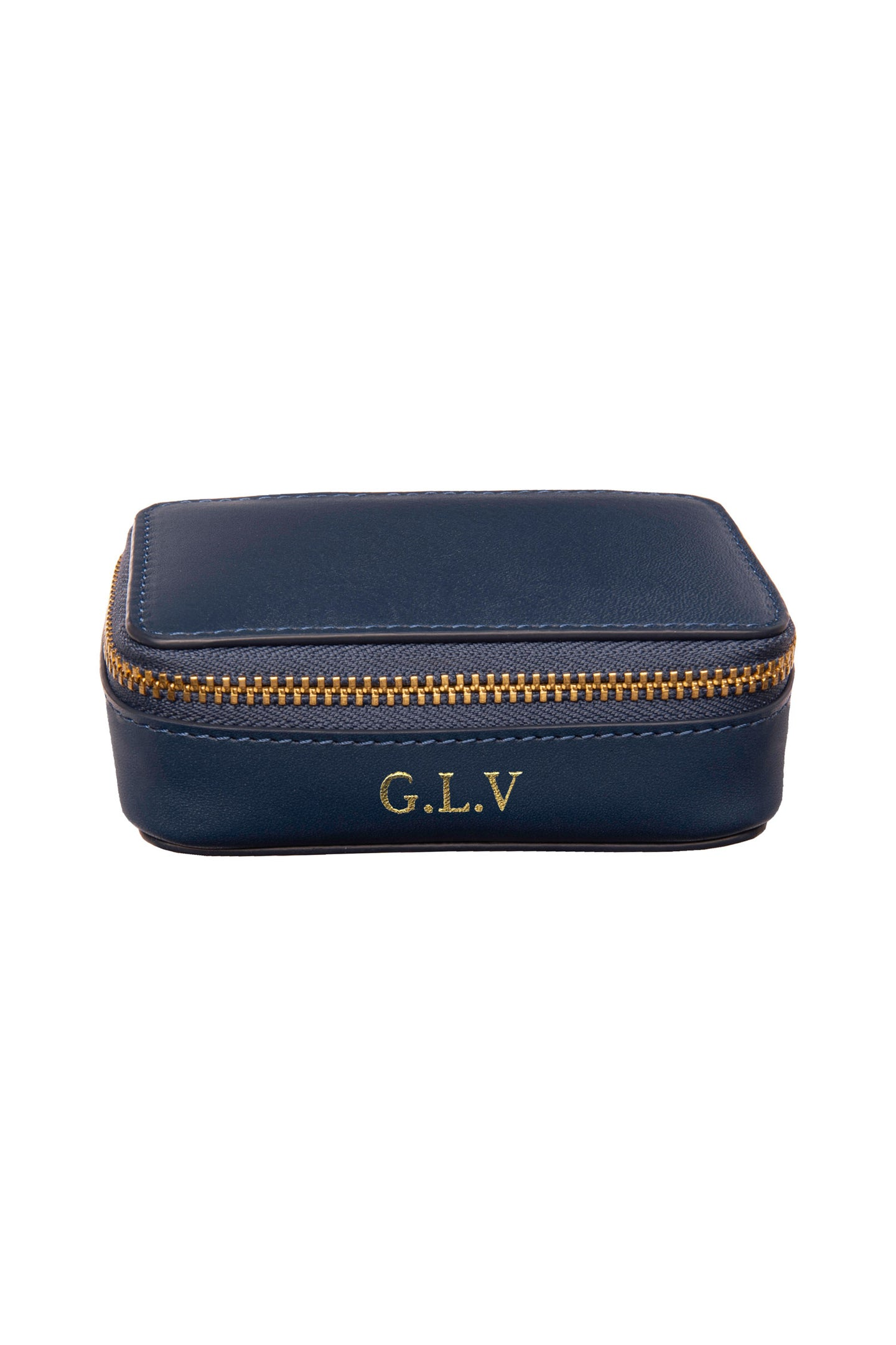Leather Jewellery Case - Navy