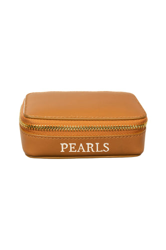 Leather Jewellery Case - Natural