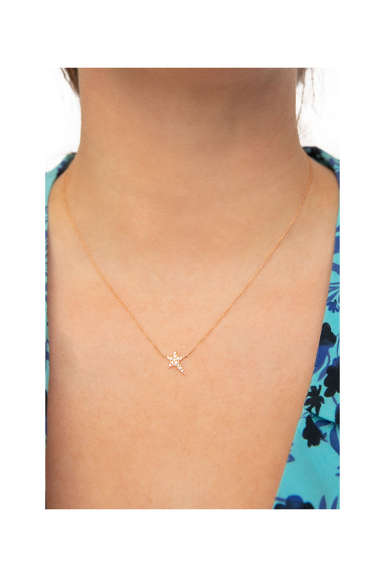 Rose Gold Single Star Necklace