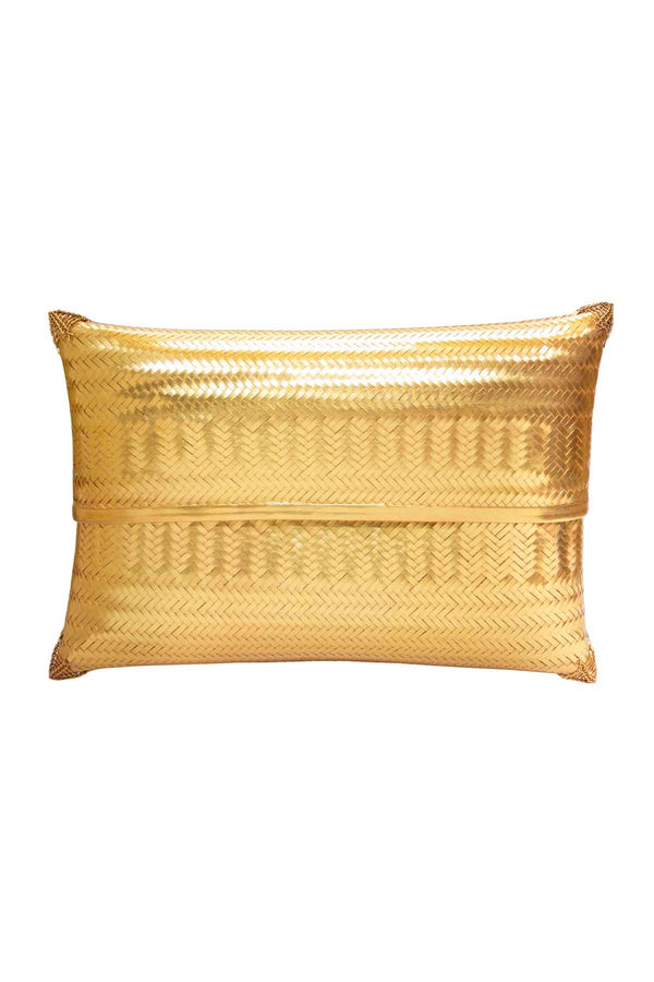 Gold Woven Clutch Bag