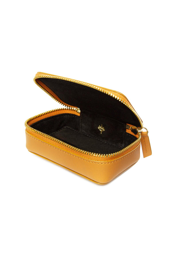Leather Jewellery Case - Yellow