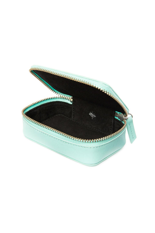 Leather Jewellery Case - Tiffany Blue