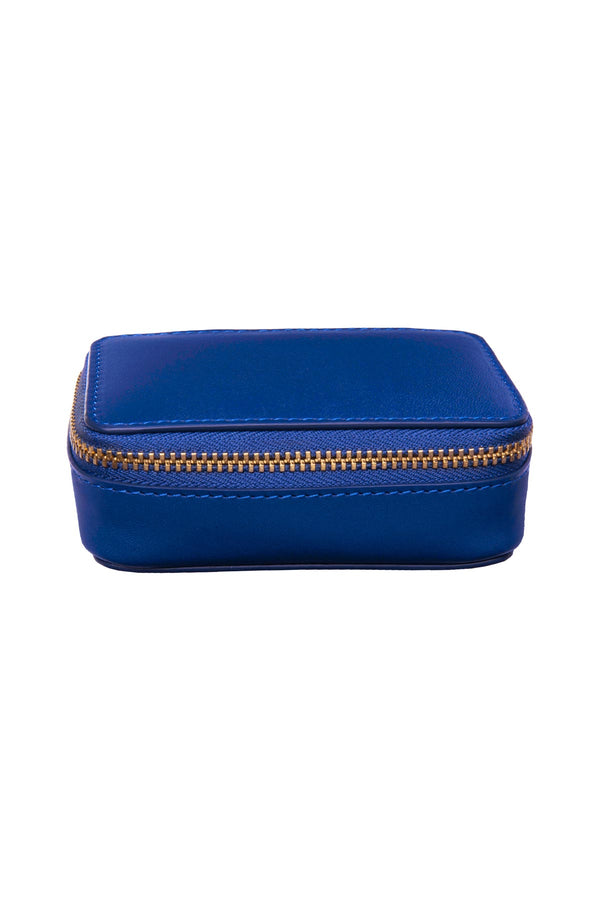 Leather Jewellery Case - Royal Blue