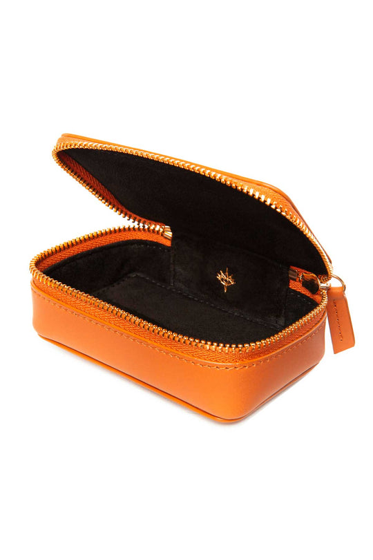 Leather Jewellery Case - Orange