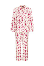 Load image into Gallery viewer, Naughty Print Silk PJ's - Red