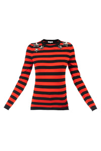 Mr Freedom Star Jumper - Red & Black