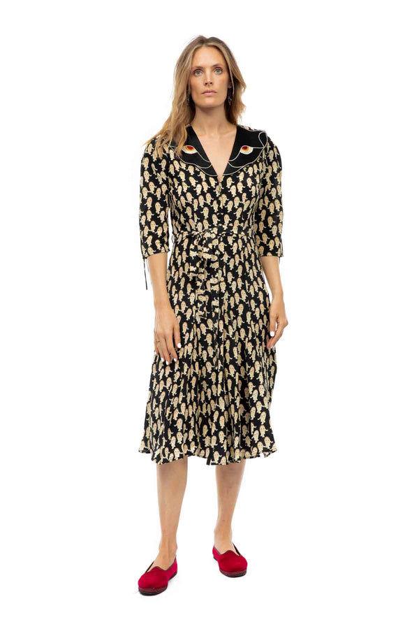 Panther Print Silk Dress