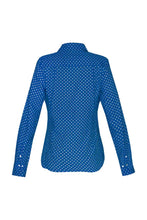 Load image into Gallery viewer, Women's Cotton Shirt - Blue Crosses