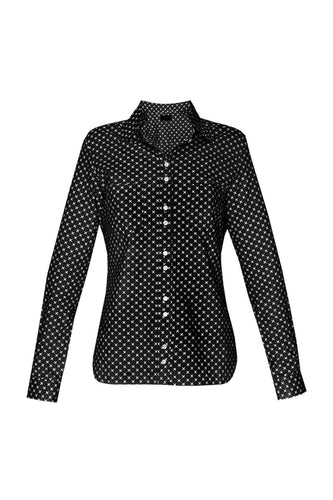 Women's Cotton Shirt - Black Crosses