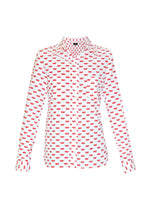 Load image into Gallery viewer, Women's Cotton Shirt - Red Lips