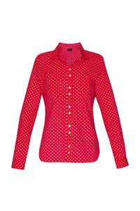 Women's Cotton Shirt - Red Crosses