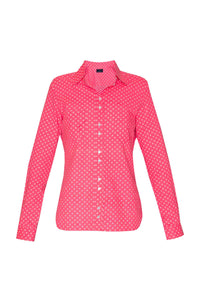 Women's Cotton Shirt - Pink Crosses