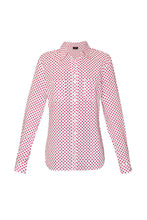 Load image into Gallery viewer, Women's Cotton Shirt - Red Polka Dot