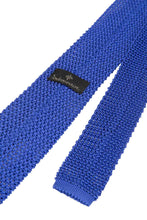Load image into Gallery viewer, Italian Knitted Tie - Bright Blue