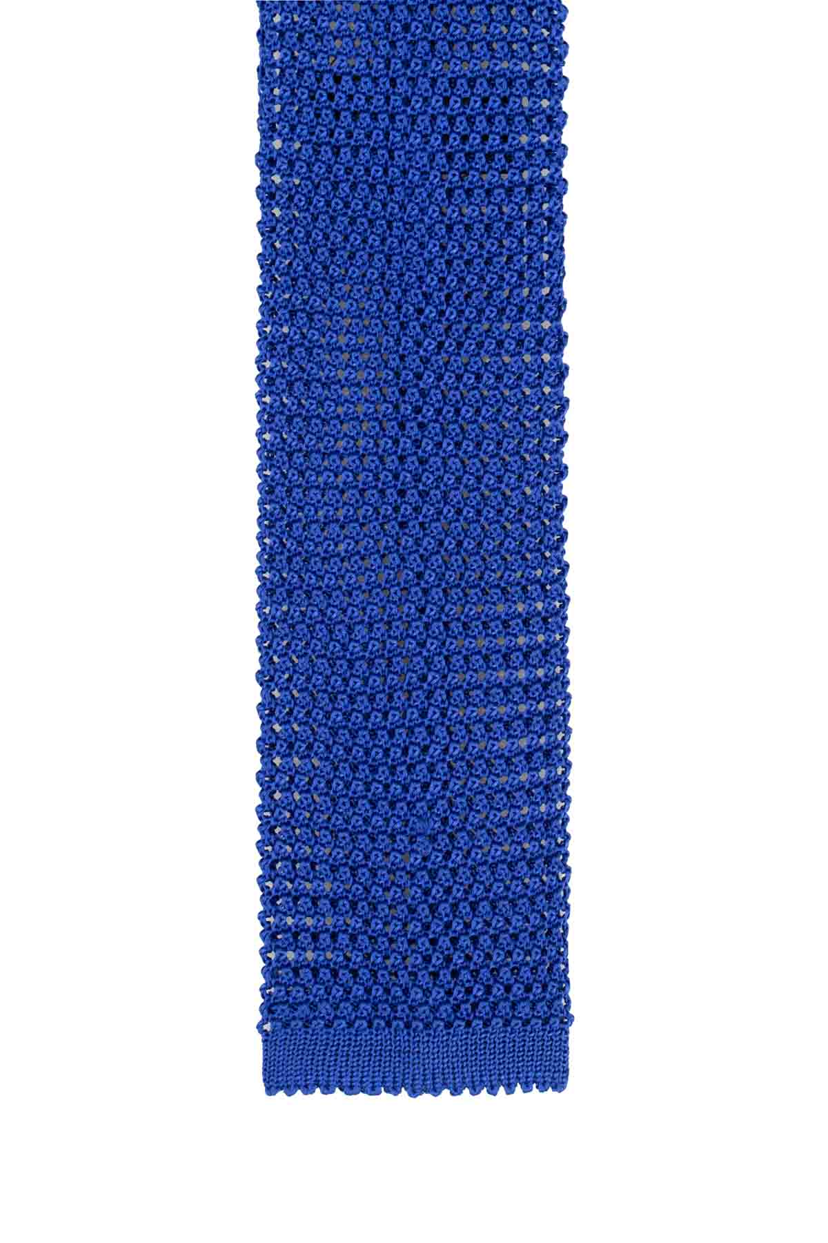Italian Knitted Tie - Bright Blue