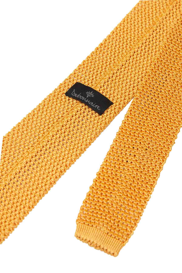 Italian Knitted Tie - Soft Yellow
