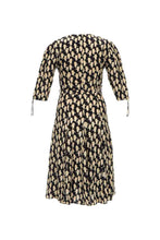 Load image into Gallery viewer, Panther Print Silk Dress