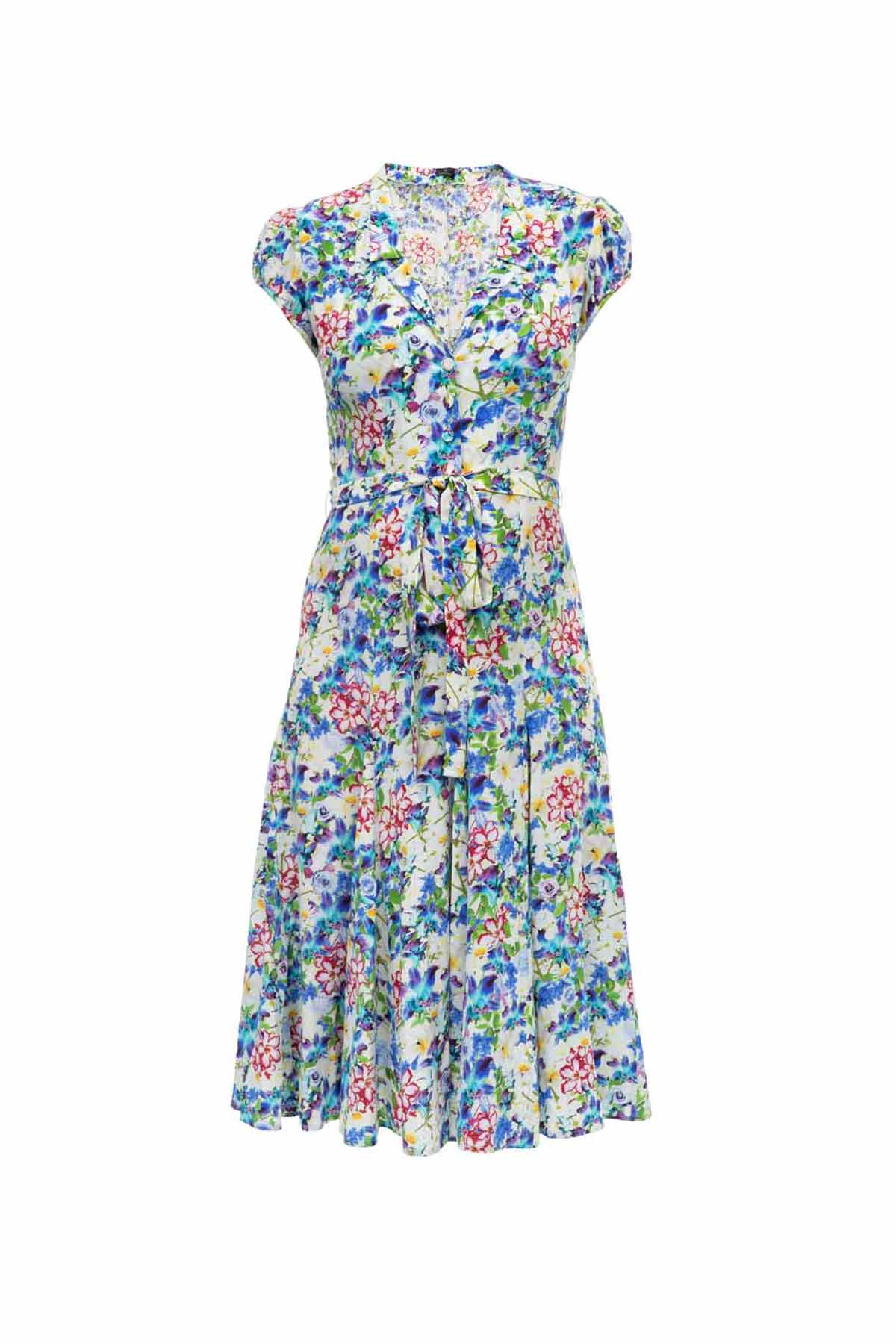 Silk Bugesha Dress - Multi Fleurs