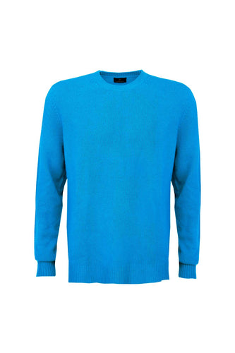 Men's Cashmere Jumper - Sky Blue