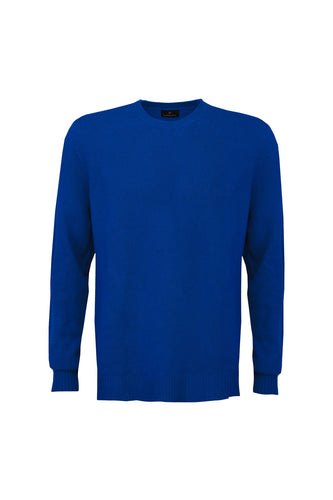 Men's Cashmere Jumper - Twilight Blue