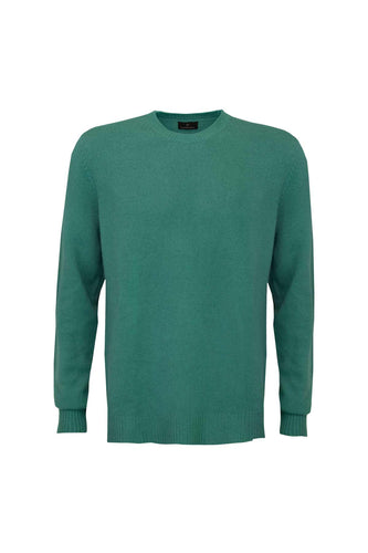 Men's Cashmere Jumper - North Sea Green